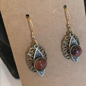 💐 5/25 brown dangle vintage statement earrings